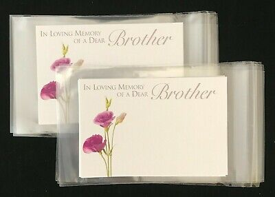 10 Florist Message Cards Gift Tags 10 Cellophane Envelopes Sympathy Relations  • 2.25£