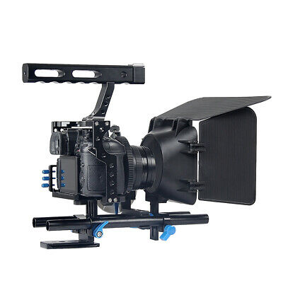 DSLR Rig Video Making Stabilizer Matte Box Follow Focus Assy For Sony A7 A7R #1 • 62.18£