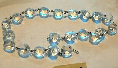 $18.99 • Buy 21pc Vintage Octagon Strand Crystal Glass Chandelier Lamp Prism Replacement