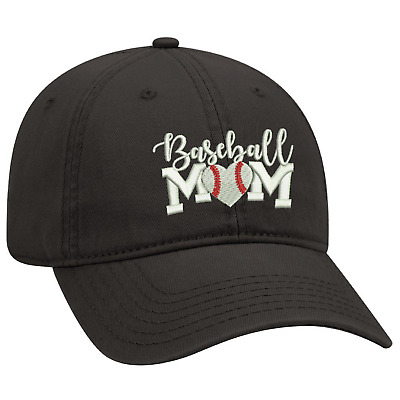 Black Dad Cap Customized With Baseball Mom Embroidery Design. • 13.02£