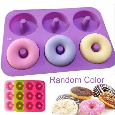 AU6.25 • Buy 6-Cavity Silicone Donut Moulds Non-Stick Baking Tray Heat Resistance Mold