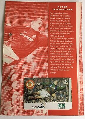 Manchester United Phone Card Collection 1996 Intercard Peter Schmeichel  • 14.99£
