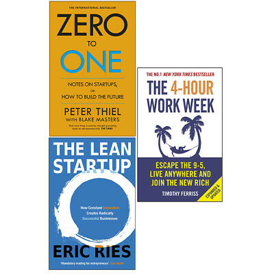 AU67.52 • Buy Zero To One,The Lean Startup,4-Hour Work 3 Books Collection Set Paperback NEW