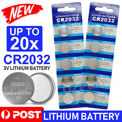 AU4.95 • Buy 10/20x New Cr2032 3v Lithium Cell Battery 5004lc 2032 Br2032 Button Batteries