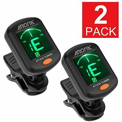$ CDN11.19 • Buy 2x Digital Chromatic LCD Clip-On Electric Tuner For Bass Guitar Ukulele Violin