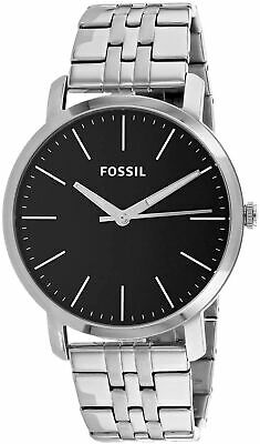 $ CDN50.61 • Buy Fossil Men's Luther BQ2312I 44mm Black Dial Stainless Steel Watch
