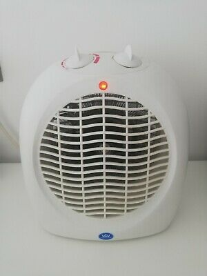 Prem-I-Air Small Quiet Portable 2Kw 2000W Electric Upright Fan Heater - White • 6.99£