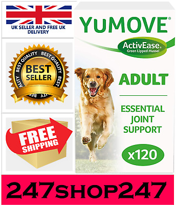 Lintbells | YuMOVE Dog | Essential Hip And Joint Supplement 120 TABLETS • 26.43£