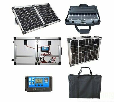 £59.99 • Buy 40W Portable Mono Folding Solar Panel Kit 12v Battery Charger Camping Caravans