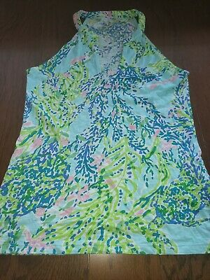 $30 • Buy Lilly Pulitzer Arya Tank Sky Blue Heaven Size Small
