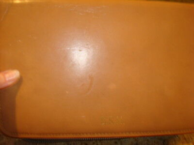 AU16.40 • Buy Vintage Men's Accessories Case Camel Goat Skin Engraved SRH