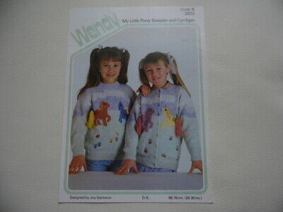 Vintage Original My Little Pony Knitting Pattern By Wendy- Sweater & Cardigan • 2.50£