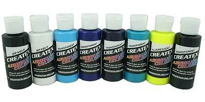 £18.83 • Buy Createx Colors Kent Lind 2 Oz Cool Water Based Airbrush Paints Set Of Eight