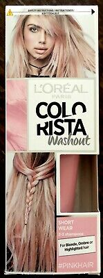 L'Oreal Colorista Washout Temporary Hair Dye, Pink, 2-3 Washes • 7.15£