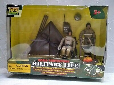 $37.60 • Buy Power Team Elite World Peacekeepers Military Camping Site #77035 1:18 Scale RARE