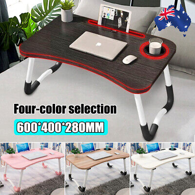 AU32.29 • Buy Laptop Stand Table Foldable Desk Bed Computer Study Adjustable Portable Cup Slot