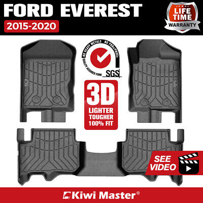 AU129.95 • Buy KIWI MASTER 3D TPE Floor Mats Liner Fit Ford Everest 2015-2020