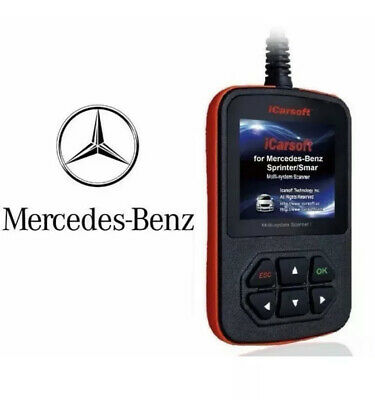 $139.99 • Buy Mercedes Benz Professional Diagnostic Scanner Tool Code Reader Abs + Srs Airbag