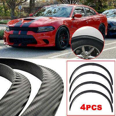 $46.96 • Buy For Dodge Charger Challenger Carbon Fiber Wheel Eyebrow Arch Trim Cover Fender