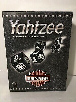 AU29.70 • Buy Harley Davidson 2003 Yahtzee Set~Travel Size Container~PreOwned Complete Set