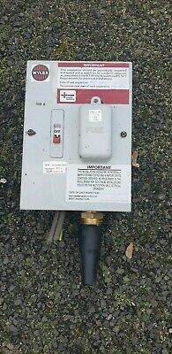Wylex 108m Metal Clad 1 Way Unit Switched Fuse Housing 60a • 35£