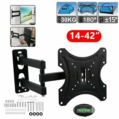 TV Wall Mount Flat LED LCD Monitor Bracket Swivel Tilt 14 16 21 23 26 30 42 Inch • 10.39£