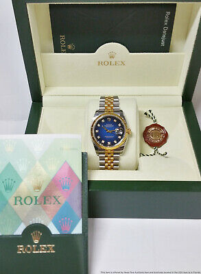$ CDN8429.96 • Buy Genuine Rolex Datejust Diamond Dial 116233 Mens Wrist Watch Box And Papers