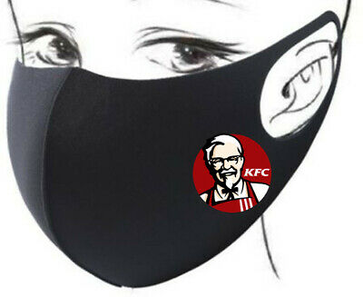 Face Mask Washable Facemask Covering Kentucky Fried Chicken KFC Logo The Colonel • 6.95£