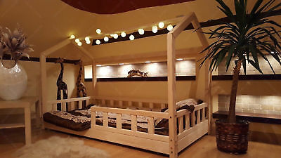 $ CDN647.04 • Buy Children Bed Bunk House Kids Bed Frame Kinderbett TWIN, FULL, QUEEN Dimension