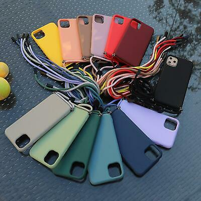 Soft Silicone Case With Lanyard For Apple IPhone 11 XS Pro Max XR X 8 7 Plus • 4.99£