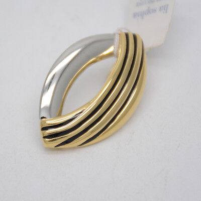 $ CDN10.88 • Buy Lia Sophia Jewelry Two Tone Gold Silver Polished Necklace Pendant Slide For Gift