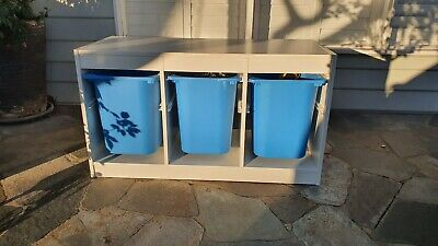 AU15.50 • Buy Ikea Trofa St Storage White With Large Blue Containers