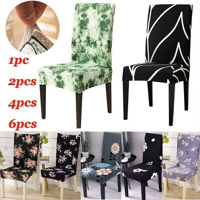 AU12.56 • Buy 1-6Pcs Dining Chair Covers Stretch Chair Slipcover Xmas Kitchen Chair Protector