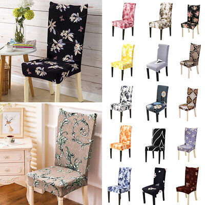AU11.46 • Buy 1-6X Home Elastic Dining Chair Covers Slipcovers Kitchen Chair Protective Covers