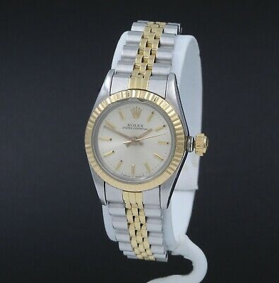 $ CDN1101.09 • Buy Rolex Oyster Perpetual 2130 Cal Two Tone S/s & 18k Gold 24 Mm Wrist Watch #8303