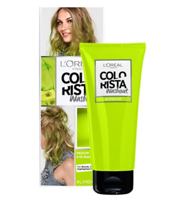 L'oreal Colorista Washout Paint Semi Permanent Hair Dye -  Lime Green Neon Hair  • 5.98£