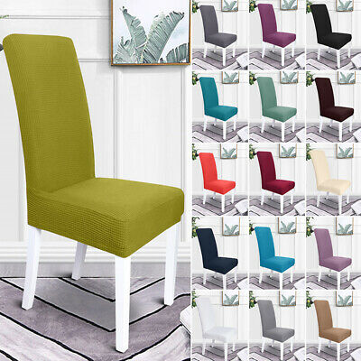 AU72.95 • Buy 1/2/4/6PCS Stretch Chair Covers Seat Cover Elastic Slipcovers Dinning Room Decor