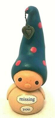 Bea's Wees-Enesco ' Missing You'  Small  Ornament Figurine Gnome  Gift • 5£