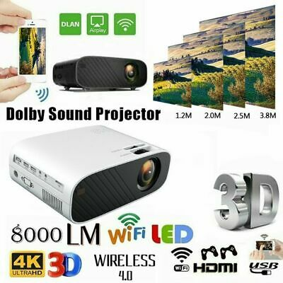 AU69.80 • Buy Mini Portable Pocket Projector HD 1080P LED Home Theater Video Projector HDMI AU
