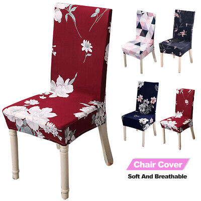 AU12.65 • Buy Stretch Spandex Dining Chair Cover Slipcovers Dining Wedding Banquet Party Décor