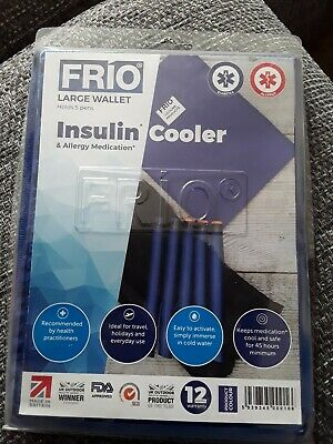 Frio Blue Large Insulin Wallet Cooling Compact Diabetic Travel Cool Bag • 20£