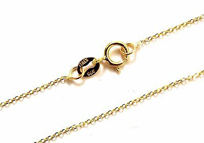 9ct GOLD FINE PLAIN TRACE ANCHOR CHAIN NECKLACE - 16inch • 23.75£