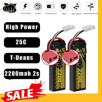 $ CDN36.90 • Buy BEAT 2Pack 7.4V 2200mAh 25C 2S Lipo Battery T Plug For RC Racing Drone RC Car