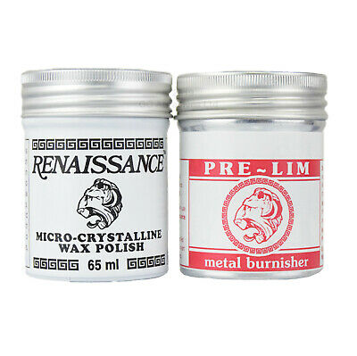 RENAISSANCE Wax & PRE-LIM Metal Burnisher - Multi-Pack - 65ml Tins • 22.15£
