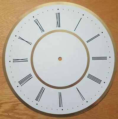 £12.95 • Buy NEW - 12 Inch Clock Dial Face - White & Gold Finish 305mm Roman Numerals - DL37
