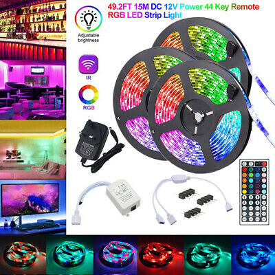 $19.76 • Buy 15/10M RGB 3528 LED Strip Lights Colour Changing With IR Remote Power Supply 12V