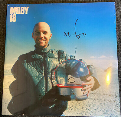£499 • Buy MOBY 18 -Double Vinyl LP SIGNED / AUTOGRAPHED SEALED  RARE