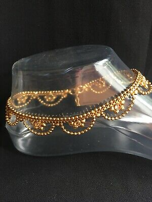 £12.99 • Buy Stunning Diamante Jingle Golden Anklet Indian Payal Ankle Chain Bollywood