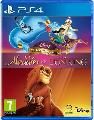 AU39.64 • Buy Disney Classic Games Aladdin And The Lion King PS4 NEW Retro Kids Family Games