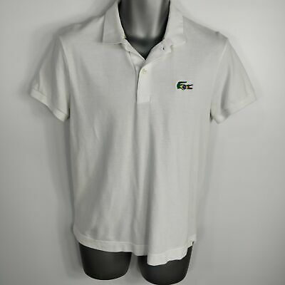 £39.99 • Buy Mens Rare Lacoste White Brazil Flag Collection Polo Shirt Top Size 3 S Small